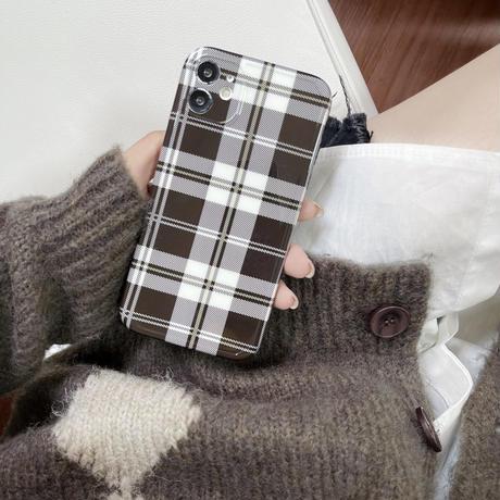 チェック柄 iphone13/13promaxカバー お上品 iphone12pro/11promaxケース  シンプル ファッションセンスいいM1121