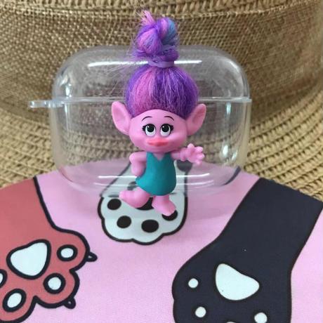 トロールズ Airpodsproケース クリアTrolls人形 エアポッズカバー 可愛いキャラクター  ヘアアレンジ M304