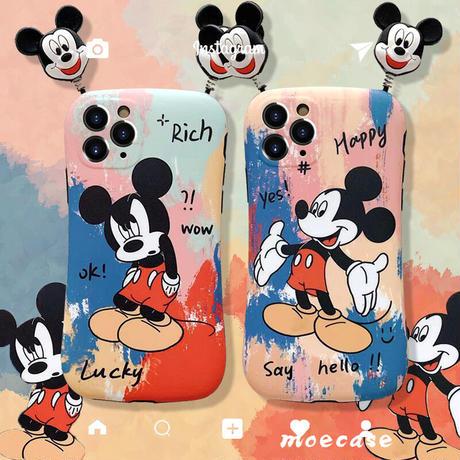 ミッキーミニーマウス iphoneSE第2世代ケース バンパーMickey Mini iphone11pro/XSカバー  ストレス解散お揃いスマホケースM210