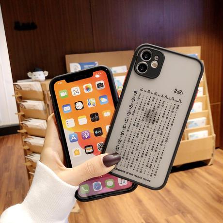 2021年カレンダー iphone12プロマックスカバー calendar iphone11/xsmax/8ケース 頑丈保護力強い耐衝撃携帯ケースM180