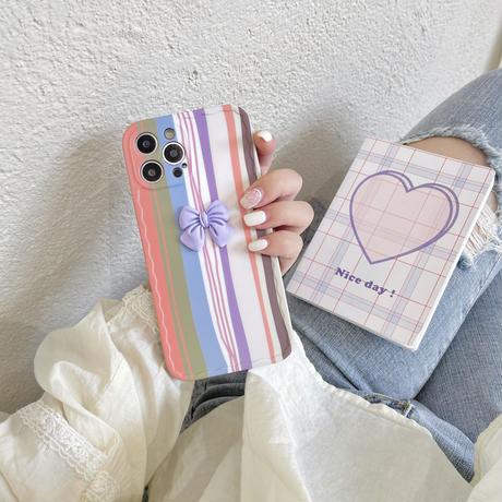 可愛いリボン iphone12/11ケース  お揃い頑丈 iphoneSE2/XS/8カバー  耐久性あり 可愛い人気スマホカバー M573