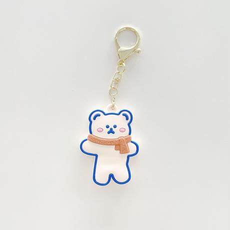 かわいいクマさん AirTag ケース  人気おすすめ bear エアタグカバー 高品質ソフトケース  キーホルダー付 紛失防止M520