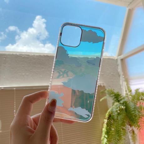 レインボー 雲 iphone11/12promaxケース 光によって変色 透明アイフォンSE/xsカバー  オシャレ 耐衝撃頑丈スマホケースM581