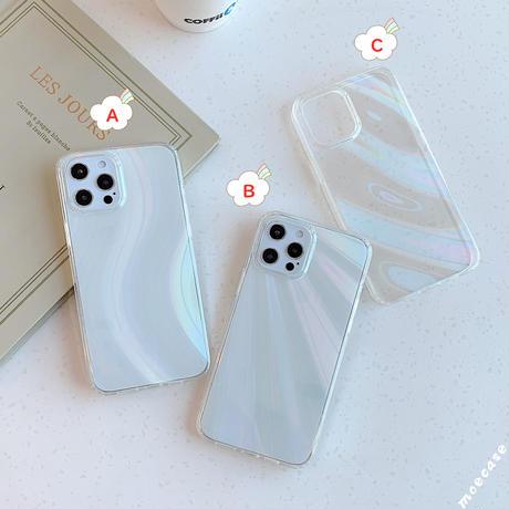 おしゃれオーロラに光る iphone12/11ケース 綺麗変色できるアイフォンXS/SE2カバー キラキラスマホケースM303