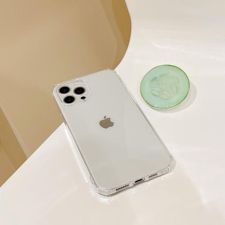 キュウリパック グリップ付 iphone13/13promaxケース 耐衝撃透明 アイフォン12/11promaxカバー  可愛い  持ちやすい 多機能M1143