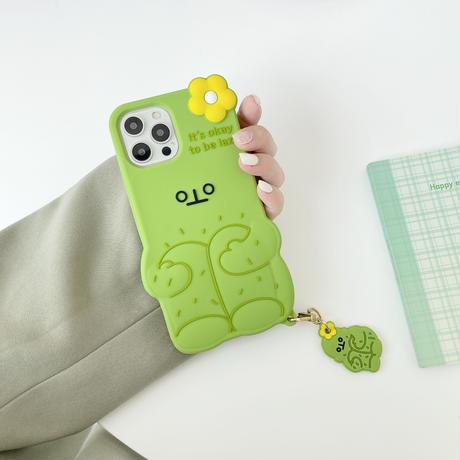 可愛いサボテン  iphone11/12proケース シリコン iphoneSE2/XS/8カバー   同系小物付  インスタ人気  M595