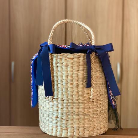 カゴバッグ Mサイズ(England tweed・tricolore check )