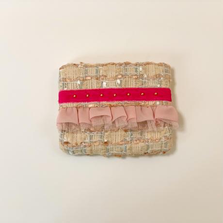ティッシュケース(England tweed ・    pink ribbon)
