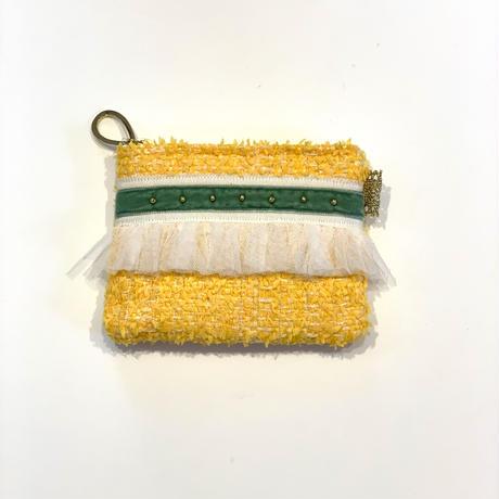 ポーチミニ(France tweed・yellow)