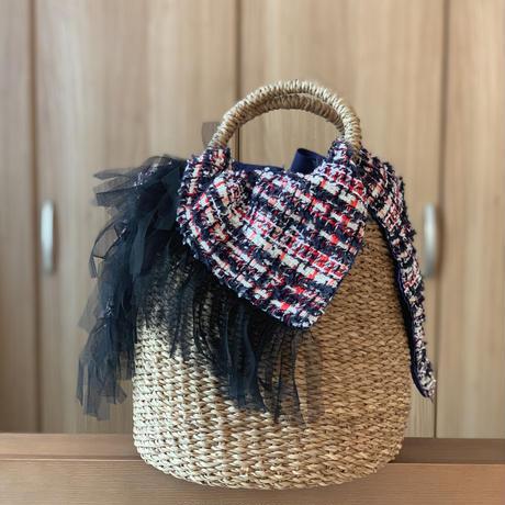 カゴバッグ Mサイズ(England tweed・tricolore check)