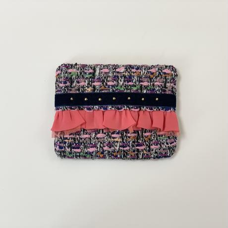 ティッシュケース(Japan tweed ・   black ribbon)