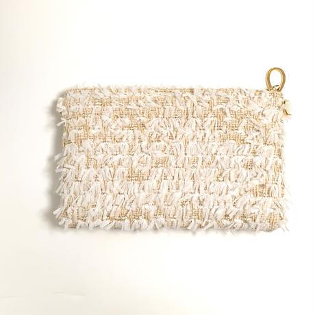 ショルダーポーチ(England tweed・White Ivory ribbon )