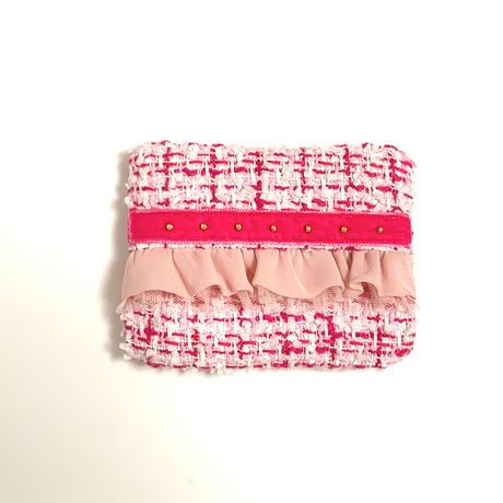 ティッシュケース(England tweed ・pink ribbon)