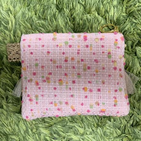 ポーチミニ(Japan tweed・pink pastel bonbon)