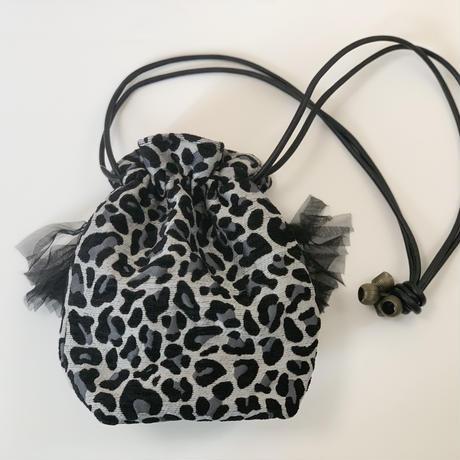巾着バッグ Sサイズ(japan 西陣織 leopard)