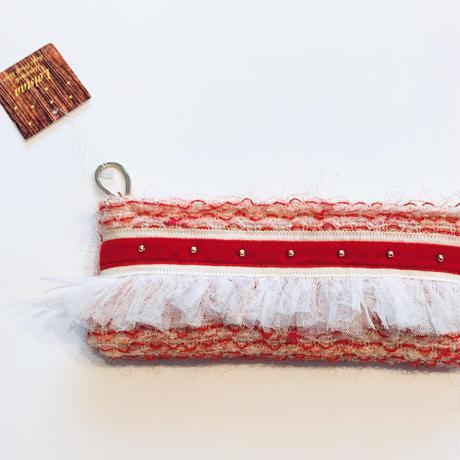 ペンケース(Japan tweed・red)