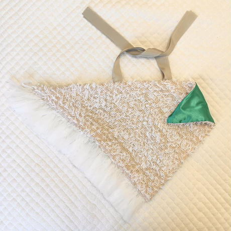 カゴカバー Sサイズ(England tweed・ Ivory fringe tweed)