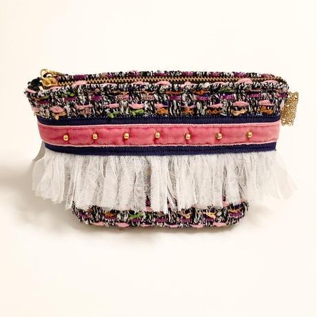 ポーチマチ付き(Japan tweed・purple forest・navy  pink ribbon)