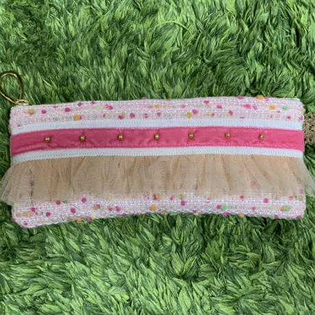 ペンケース(Japan tweed・pink pastel bonbon)