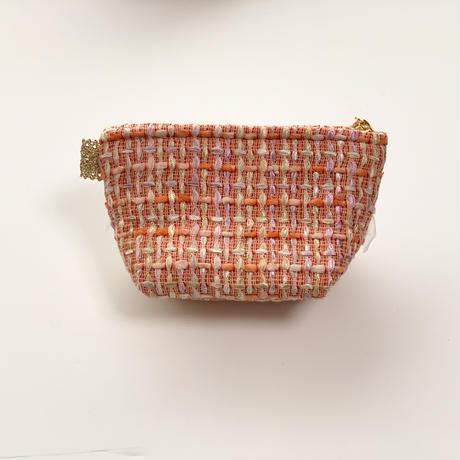 ポーチマチ付き(England tweed・orange・ White purple ribbon)