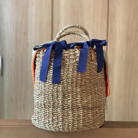 カゴバッグ Mサイズ(Italy textile・natural color)