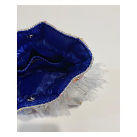 巾着バッグ Sサイズ(England tweed・naturalcheck)