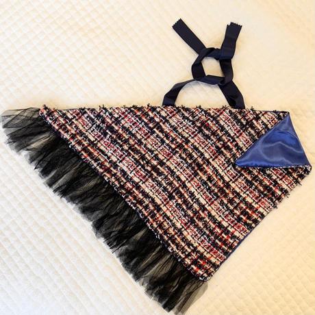 カゴカバー Mサイズ(England tweed・tricolore check)