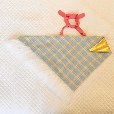 カゴカバー Mサイズ(England tweed・pastel color check)