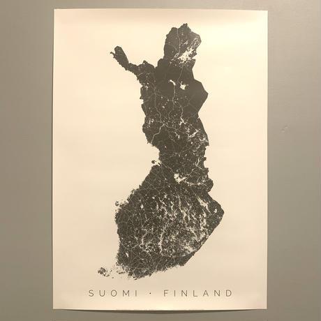 Suomiモノクロ地図