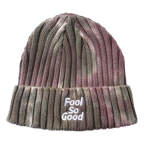 """Fool So Good""Logo Tie-dye  Knit Beanie"