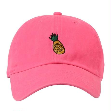 """Pineapple"" Curve Visor Low Cap"