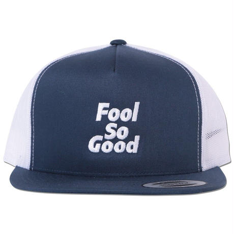"""Fool So Good"" Flat Visor 2tone Snap Back  Mesh Cap"