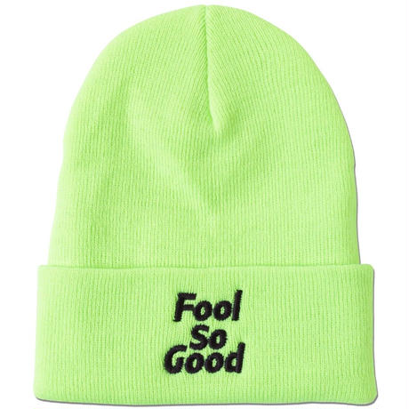 """Fool So Good""  Cuffed Knit Beanie(Neon)"