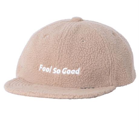 """Fool So Good""Boa Fleece Flat Visor Cap"