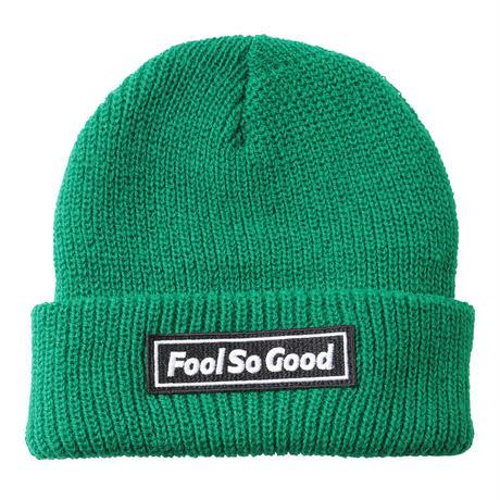 """Fool So Good"" Box Logo Wappen Cuffed Knit Beanie"