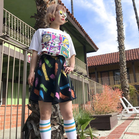 🌈Black Paint Skirt🌈