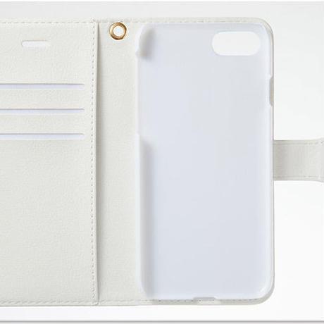 iphone plus/XR/XSMax&AndroidL★リボン&レース柄・手帳型スマフォケース !名入れオプション可!