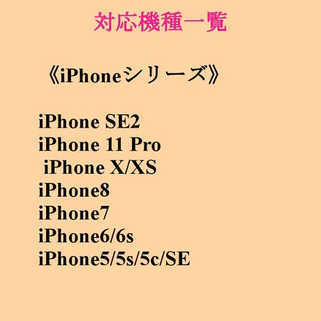 お名前入り ハートのリボンリース柄♡スマホケース♪iPhone 5/5 s/ 5c/ 6/ 6s/ 7/ 8/ SE/ X/XS/11Pro/SE2対応