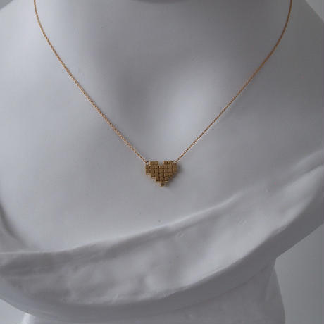 Square Heart Necklace / スクエアタイル