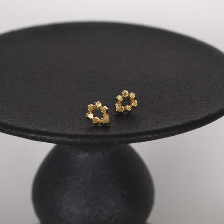 Hex stud earrings/六角形