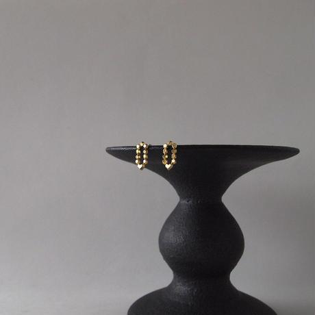 Hex Pencil shape stud earrings/えんぴつ型