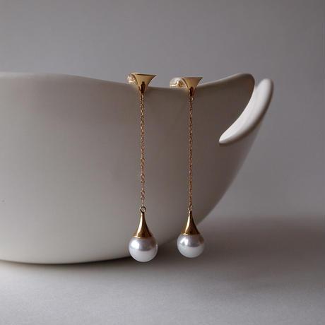 K18YG 本真珠ピアス / 18K Yellow Gold Akoya Pearl Earring Sets