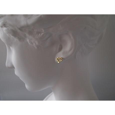 Heart Hex stud earrings/ハート