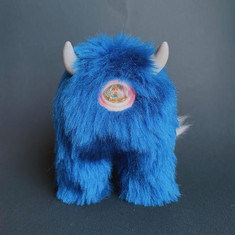 "Step monster""モノアイ""キーホルダー/blue"