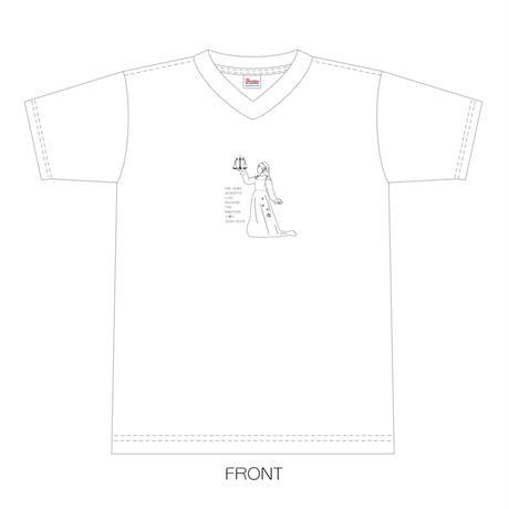 【上間江望】リブラ・アストライアー・江望Tシャツ(ホワイト)