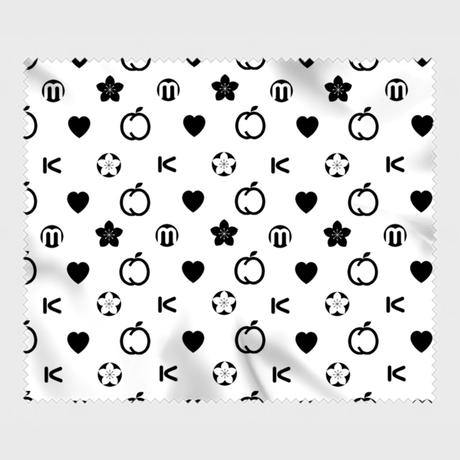 【モモグラム】眼鏡&カメラ拭き(モノクロ)