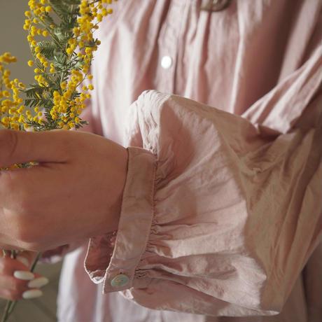 休日のブラウス 10分袖 手染 ピンク【web価格】