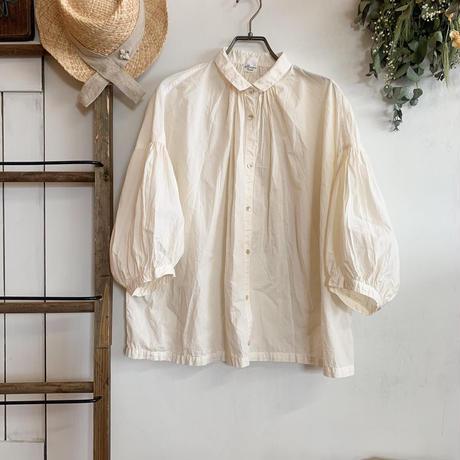 休日のブラウス 7分袖 手染 ivory【web価格】