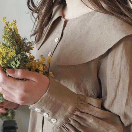 大きな襟のカシュカシュワンピース / yellowbeige  【web価格】
