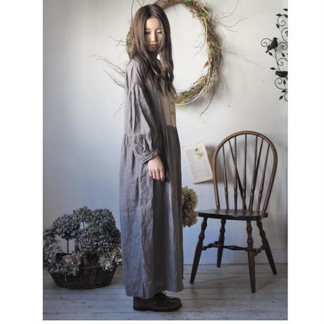 【リクエスト】並木道りのワンピース / 手染 モカ茶/サンド 【web価格】
